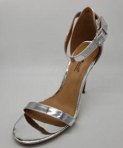 Anne Michelle Girltalk Silver Stiletto Dress Heels